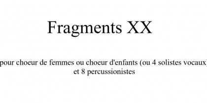 Fragments XX